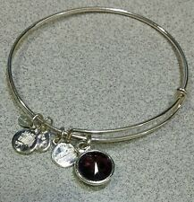 Bracelet with Purple Crystal Alex and Ani Silvertone