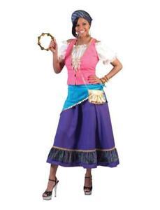 Costume da regina gitana cartomante zingara donna