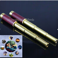 25x 30mm Zoomable Telescope Focus Nautical Brass Monocular  Coated Pirate &bag