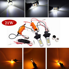 1156 2835 42SMD White/Amber Dualcolor Switchback LED Turn Signal/Rear Light Bulb