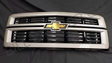 2014-2015 Chevrolet Silverado 1500 OEM White Diamond High Country Grille NEW
