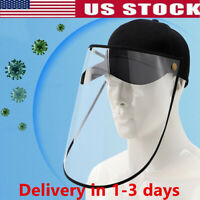Baseball Cap Clear Anti Saliva Splash Dustproof Full Face Protective Shield Hat