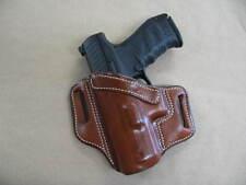 H&K Heckler & Koch VP9, VP40 Leather 2 Slot Molded Pancake Belt Holster TAN LEFT