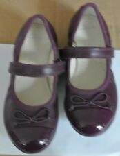 New Clarks en cuir filles Toddler Chaussures Prune Taille 8 F