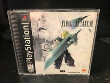 Final Fantasy VII (Sony PlayStation 1) RARE PS1 FF7 video game COMPLETE CIB RPG