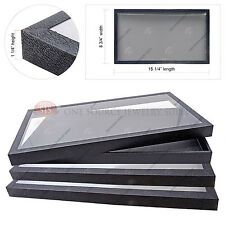 1 1 Acrylic Top Display Case /& 15 Compartmented Gray  Insert Organizer