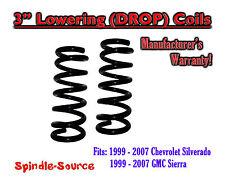 "1999 - 2006 Chevy Silverado GMC Sierra 1500 V6 3"" Lowering Drop Coils Spring Kit"