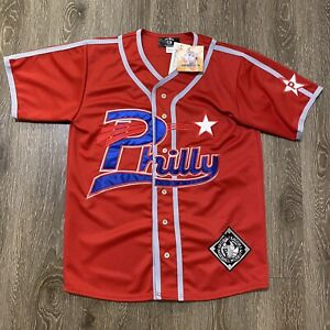Brand New Vintage Philadelphia Stars Negro League Jersey Large Red museum shirt
