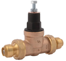 SharkBite 1/2 in. Push-to-Connect Bronze EB-45 Double Union Pressure Regulating