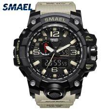Montre SMAEL Militaire Pour Homme 50 m Montre Waterproof Led Horloge À Quartz