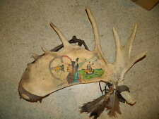 Alaskan Moose Shed Antler Sioux Indian artist Metferd Ashly signed