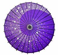 Japanese Wagasa Bangasa Paper Umbrella Purple Flower design for Cosplay Japan ①