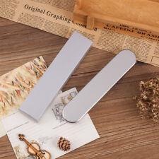 Silver Tin Pencil Case Pen Storage Box Stationery Organizer School Office Use