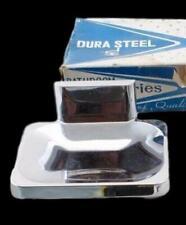 Dura Steel Vintage Soap Dish Wall Mount Chrome New Old Stock Retro Mid-Century