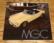 Original 1969 MG MGC Foldout Sales Brochure 69