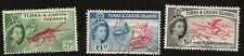 1950 TURKS & CAICOS KÖNIGIN & FLAMINGO HUMMER CONCH ALTE MARKE GEBRAUCHT FISCH