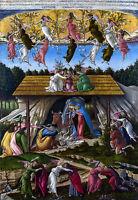 Mystic Nativity, Sandro Botticelli 1445, Italy Art, Christian Art, Canvas Print