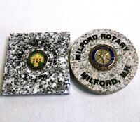 Vintage ROTARY INTERNATIONAL CLUB Granite Paper Weight Lot Milford New Hampshire