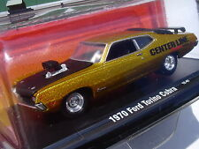 1970 Ford TORINO COBRA M2 Machines METALLIC GOLD PAINT Auto Drivers #18 - SEALED
