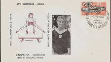 1960 Olympics Gold Medal Russia Women's Gymnastics Margarita Nikolaeva +Latynina