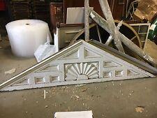 "circa 1885 Victorian gingerbread house gable pediment SUNBURST geometric 9' 5"" L"