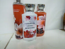 Bath & Body Works JAPANESE CHERRY BLOSSOM Fine Mist Lotion Gel full size set 3