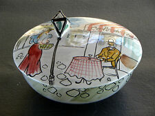 ( .........................  ITALIAN ART POTTERY COVERED CANDY DISH )