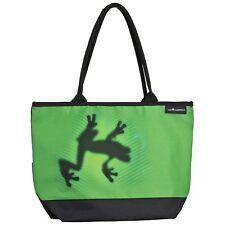 Tasche grün Tier Umhängen Shopper Bag Frosch Damen Schattenfrosch 4188