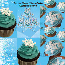 Frozen Party Supplies Snowflake 4-Tiered Cupcake Stand Birthday Party Decoration