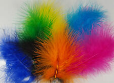Marabou Feathers Small & Fluffy 20 per Packet Size 10 - 15cm  25 Colours Listed