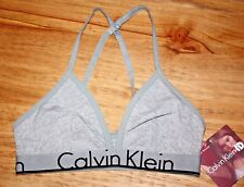 CALVIN KLEIN ID MEDIUM UNLINED TRIANGLE BRALETTE WOMEN'S CONVERTIBLE BRA GRAY