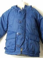 BOYS BABY GAP AGE 18-24 MONTHS BLUE HOODED PADDED QUILTED COAT JACKET KIDS
