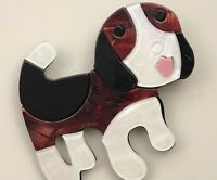 Unique  large Dog  Brooch Pin In acrylic