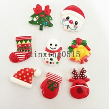 8pcs mix Resin Christmas series combination Flatback scrapbooks decoration DIY -