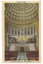 Franciscan Monastery Holy Ghost Altar Washington DC Postcard Linen, Religion
