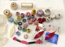 Vintage Lot ~Dmc Coats & Clark~Star~ Tatting Shuttles, Threads, Laces