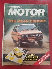 Modern Motor September 1977 - Escort - Porsche 928 Poster