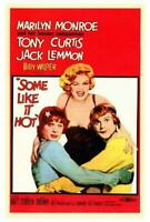 Some Like It Hot Movie POSTER 27 x 40 Marilyn Monroe, Tony Curtis, Jack Lemmon,A