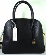 a651eae77e59 Michael Michael Kors Mercer Large Dome Black Leather Satchel Bag