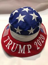Patriotic Trump 2020 United States American Flag Bucket Hat One Size NWT