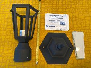 """Craftmade Lighting - Cast Aluminum - One Light Post Lamp Matte Black About 16.5"""""""