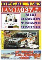 DECAL 1/43 LANCIA 037 RALLY TOTIP M.BIASION R.SOL-RACE 1983 WINNER (01)