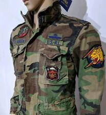 New Ralph Lauren Mens Field Jacket Camouflage Combat Surplus 1943 Sz XS RRP£389