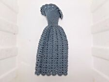Vintage doll Dress barbie old clothes Crochet 1950's-60's Blue for 12'' Doll EUC