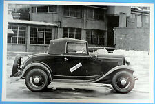 """12 By 18"""" Black & White Picture 1932 Ford Cabriolet Top Up"""
