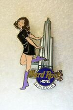 CHICAGO HOTEL,Hard Rock Cafe Pin,GIRL OF ROCK,GOR,3rd Series