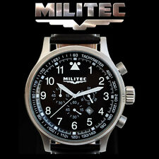 MILITEC Pilot Chronometer Military/Army Watch 100m Water Resist PC-001