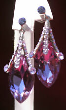 Lavendar CZ Teardrop Earrings