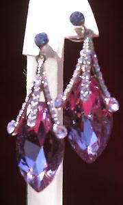 Lavender CZ Teardrop Earrings