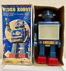 """S.H HORIKAWA """"VIDEO ROBOT"""" Moon Tv Space Tin Toy - Japan 1960s"""